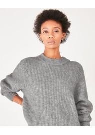American Vintage East Wool Mix Jumper - Heather Grey