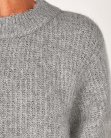 American Vintage East Wool Mix Jumper - Heather Grey main image