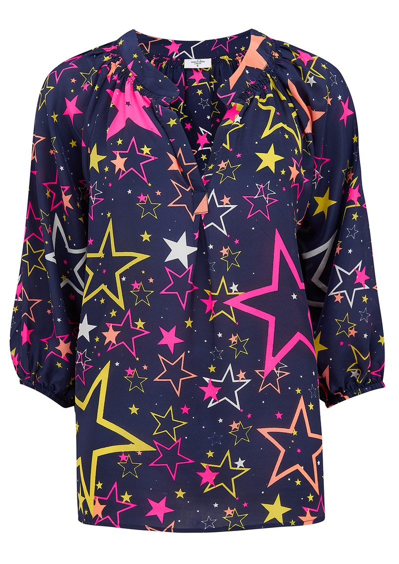 Mercy Delta Clevedon Silk Blouse - Starry Disco main image