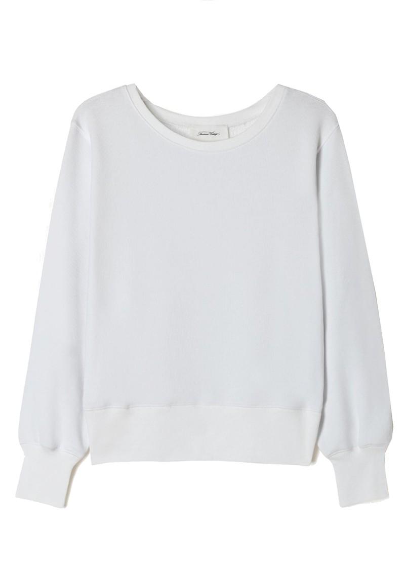American Vintage Fobye Organic Cotton Sweatshirt - White main image