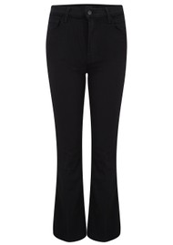 J Brand Franky High Rise Cropped Bootcut Jeans - Seriously Black