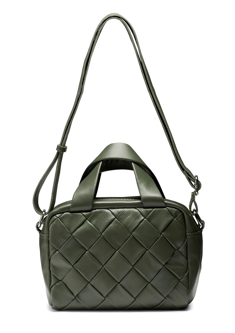 NUNOO Donna Braided Leather Bag - Olive main image