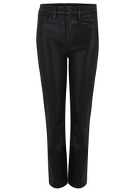 J Brand Alma High Rise Straight Leg Coated Jean - Stellar Black