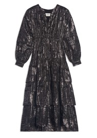 Ba&sh Sophie Silk Mix Dress - Black