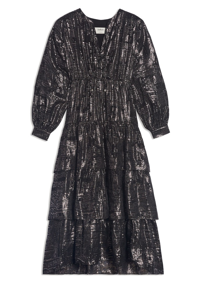 Ba&sh Sophie Silk Mix Dress - Black main image