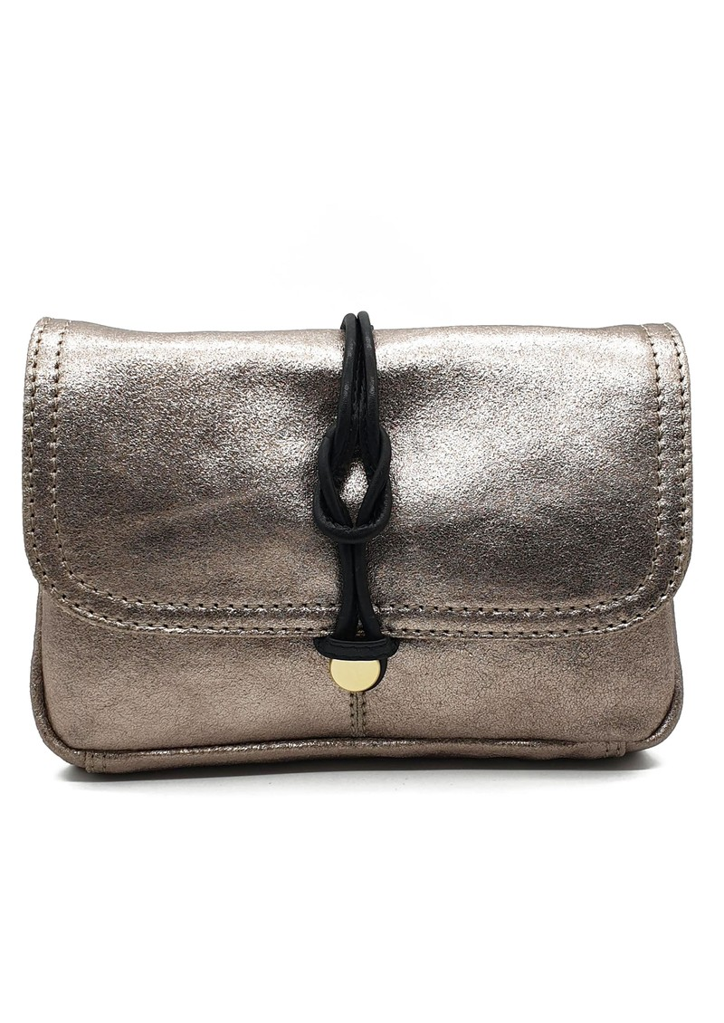 NOOKI Delfine Leather Clutch -Gold main image