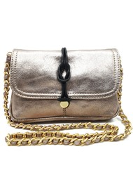 NOOKI Delfine Leather Clutch -Gold
