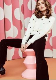 FABIENNE CHAPOT Disco Heart Pullover - Cream White