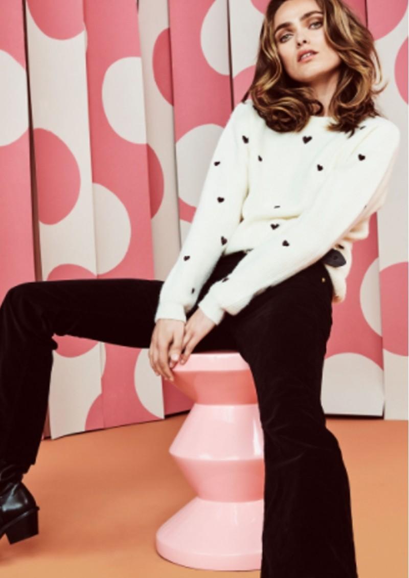 FABIENNE CHAPOT Disco Heart Pullover - Cream White main image