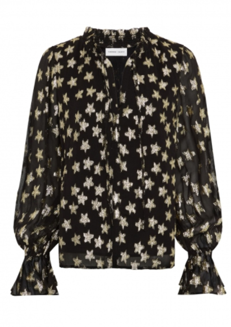 FABIENNE CHAPOT Maxime Printed Blouse - Starry Night Gold main image
