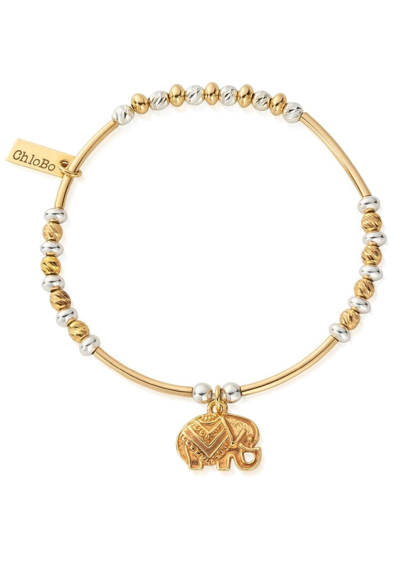 ChloBo Decorated Elephant Bracelet - Gold & Silver main image