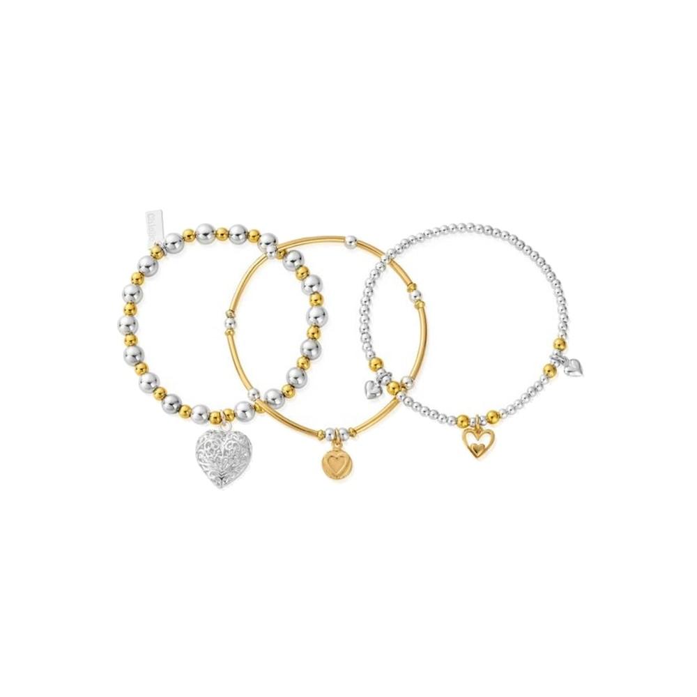 Compassion Set of 3 Bracelets - Gold & Silver