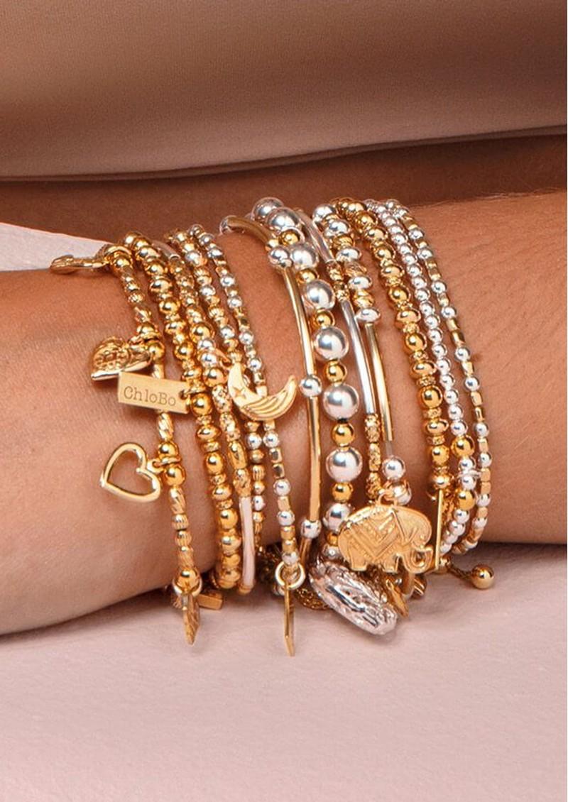 ChloBo Compassion Set of 3 Bracelets - Gold & Silver main image