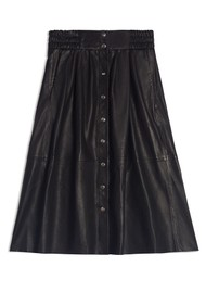 Ba&sh Pheebe Leather Skirt - Black