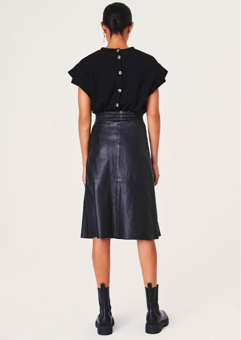 Ba&sh Pheebe Leather Skirt - Black main image