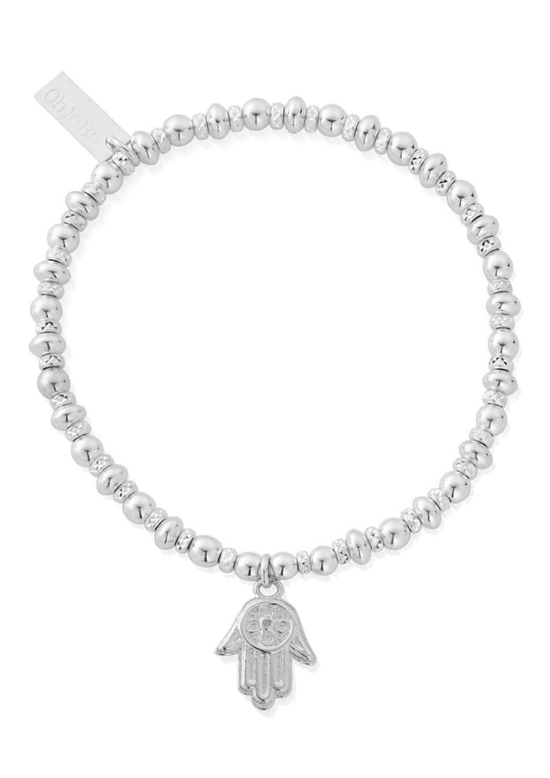 ChloBo Didi Sparkle Hamsa Hand Bracelet - Silver main image