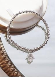 ChloBo Didi Sparkle Hamsa Hand Bracelet - Silver