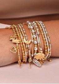 ChloBo Didi Sparkle Hamsa Hand Bracelet - Gold