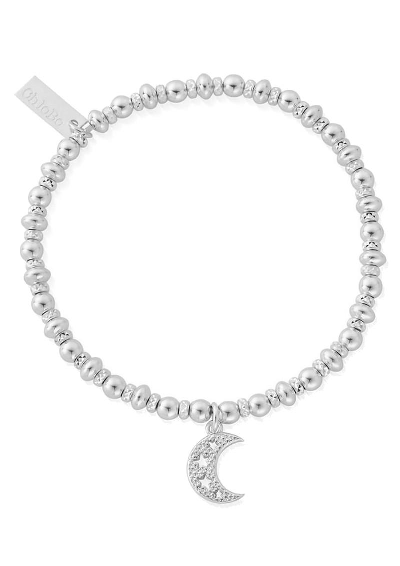 ChloBo Didi Sparkle Starry Moon Bracelet - Silver main image