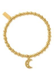 ChloBo Didi Sparkle Starry Moon Bracelet - Gold