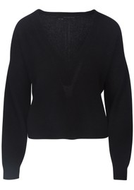 360 SWEATER Alexandria Cashmere Sweater - Black