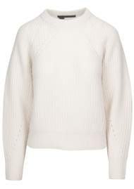 360 SWEATER Sage Cashmere Sweater - Chalk