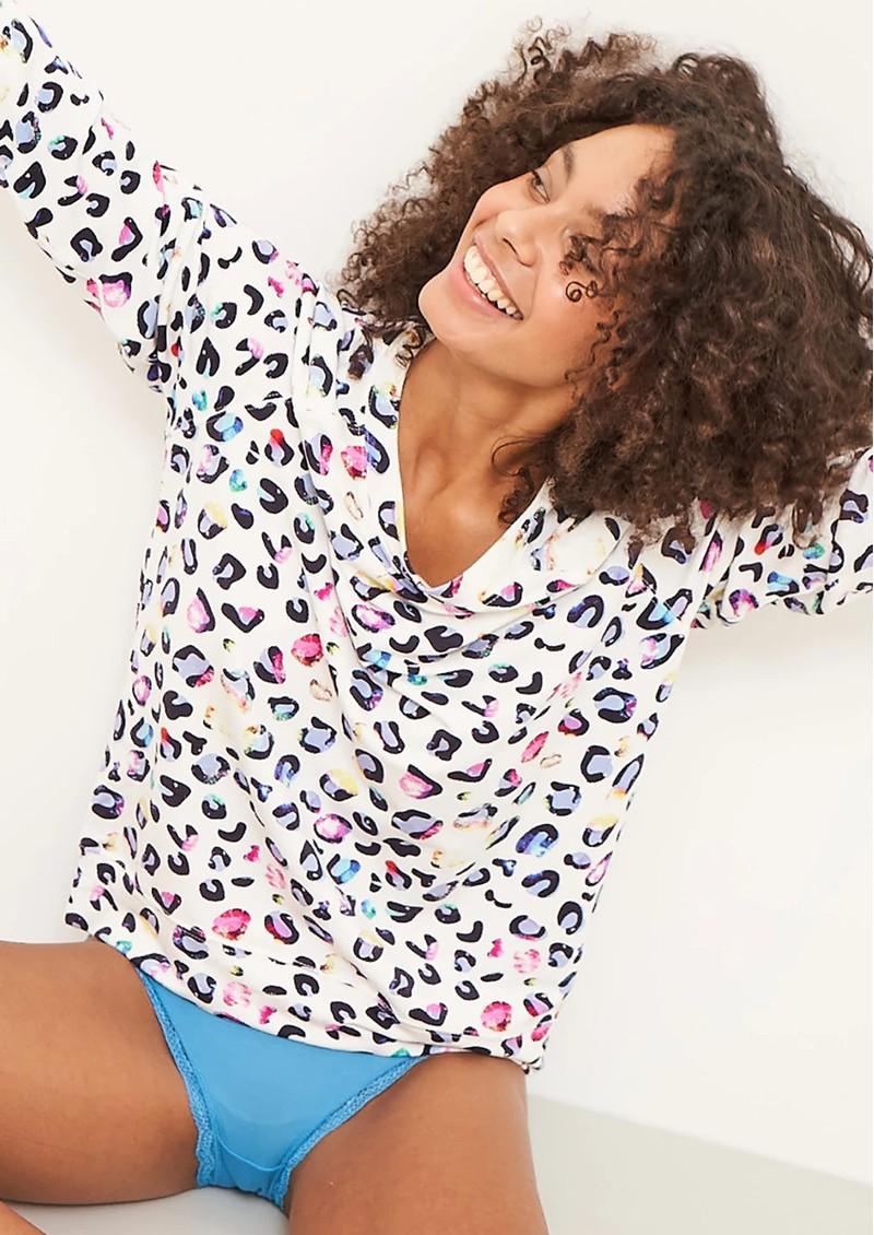 STRIPE & STARE Essential Sweatshirt - Multi Leopard main image