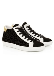 AIR & GRACE Alto Vegan Trainers - Black Leopard