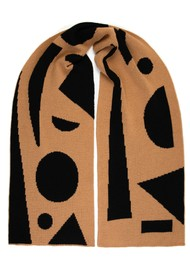 MISS POM POM Allsorts Scarf - Black & Brown