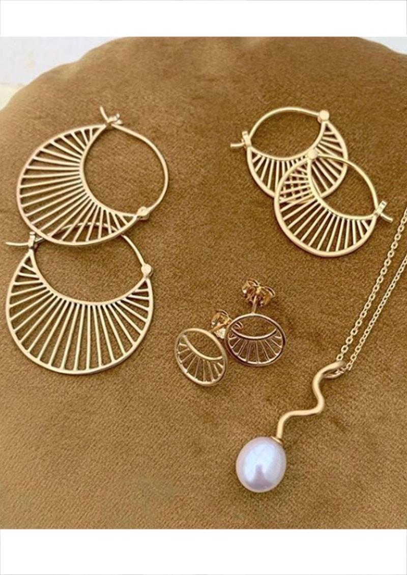 PERNILLE CORYDON Large Daylight Earrings - Gold main image