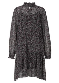 SECOND FEMALE Kaylan Printed Dress - Black