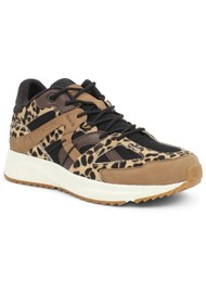 WODEN Eve Animal Fifty Trainers - Leopard