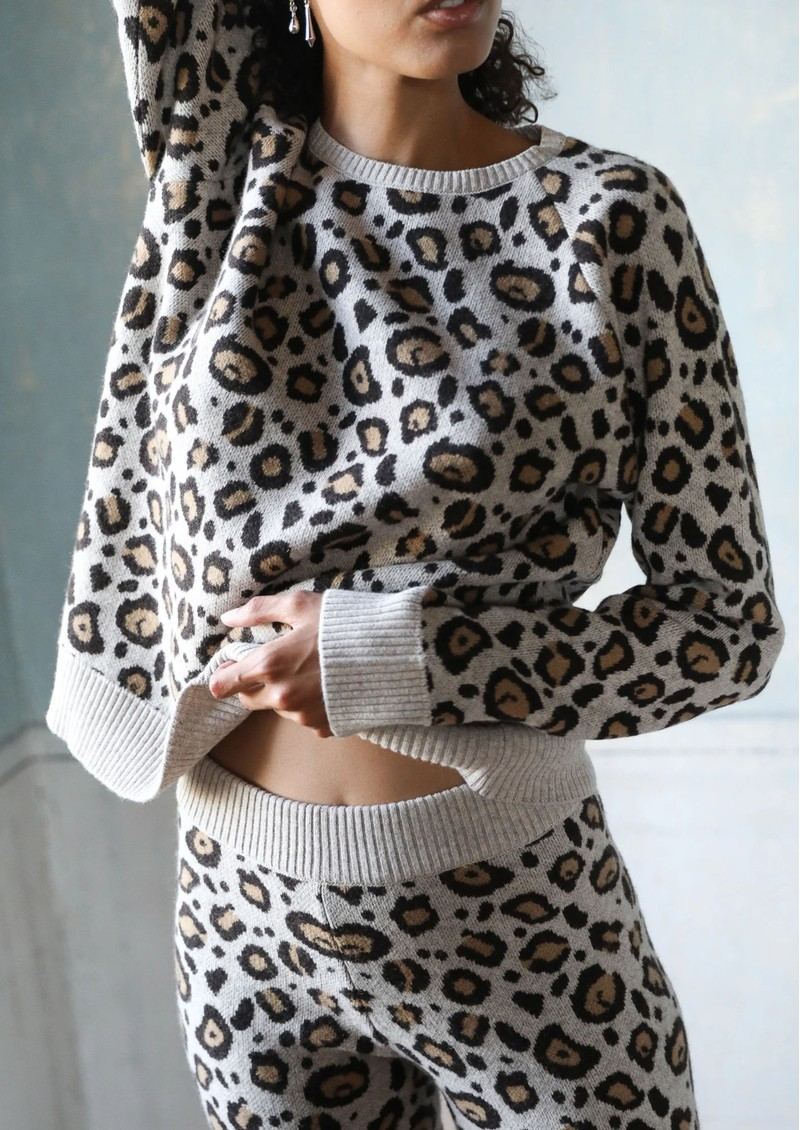 Cashmere Leopard Sweater - Brown Leopard main image