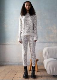 RAGDOLL Cashmere Leopard Sweater - White Leopard