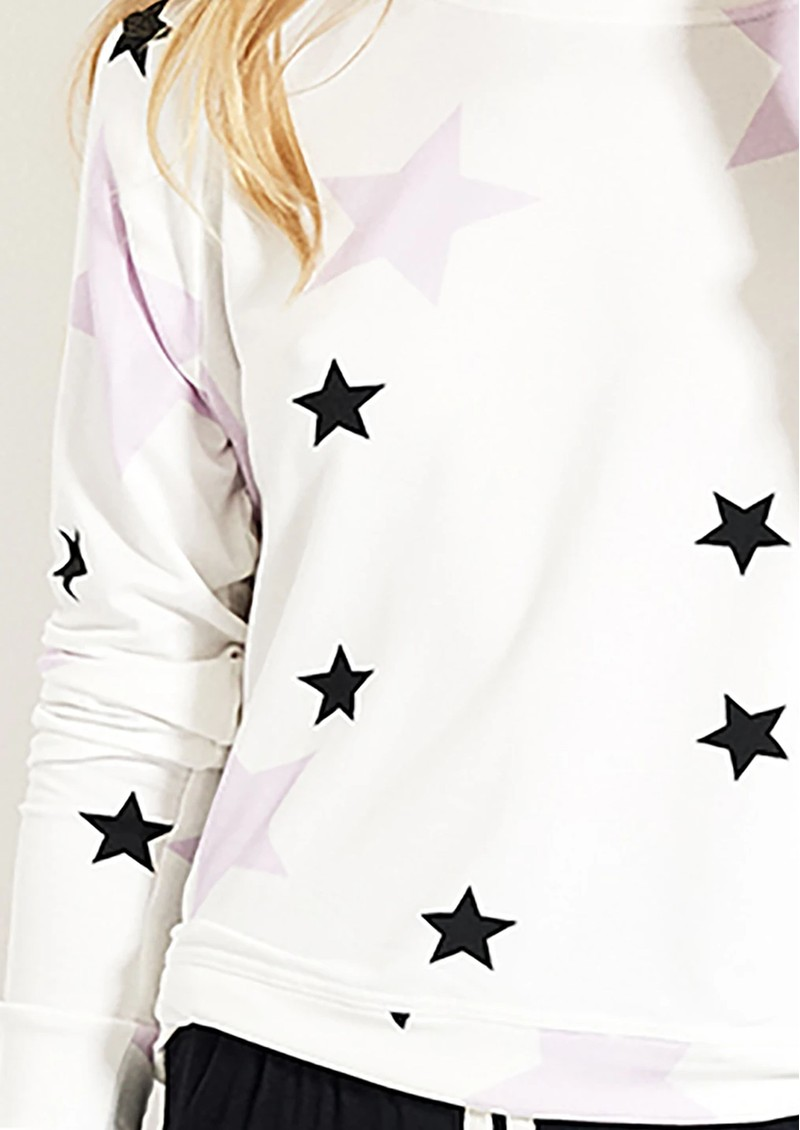 STRIPE & STARE Essential Sweatshirt - Pink Star main image