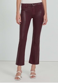 J Brand Selena Mid Rise Boot Cut Coated Jeans - Stellar Courant