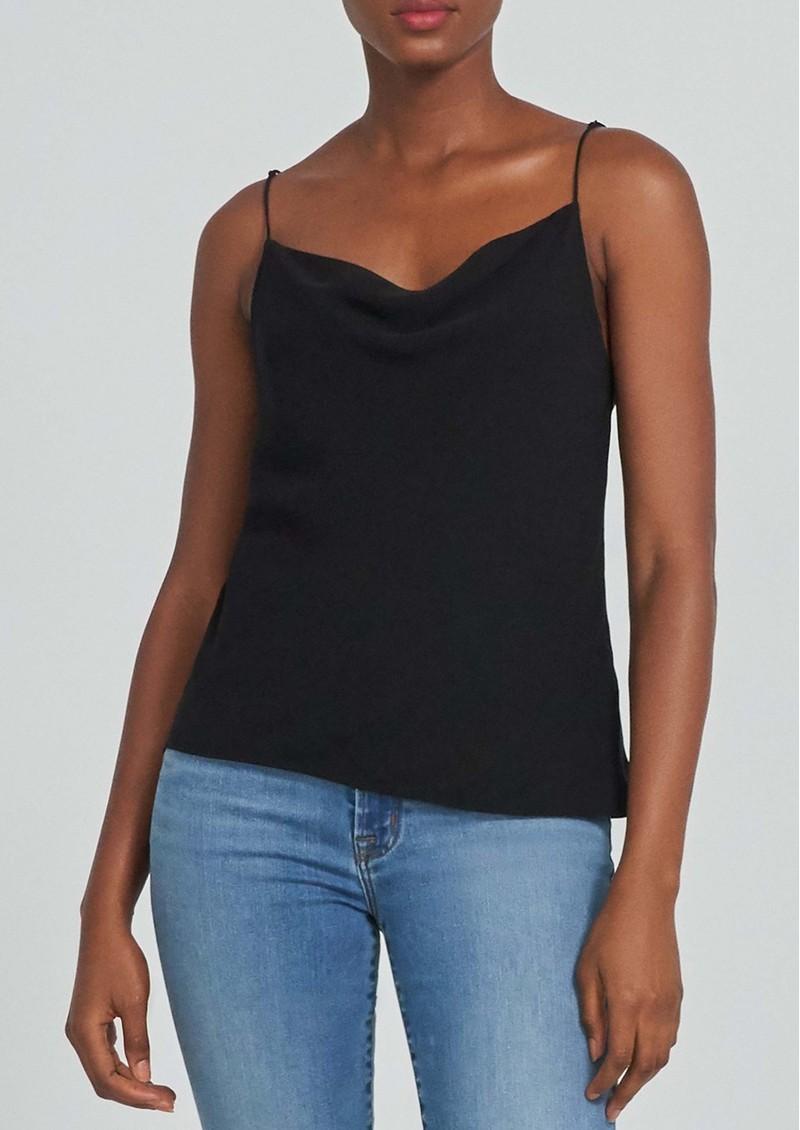 J Brand Finley Silk Cowl Neck Cami Top - Black main image