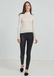 J Brand Maria High Rise Skinny Coated Jeans - Stellar Black