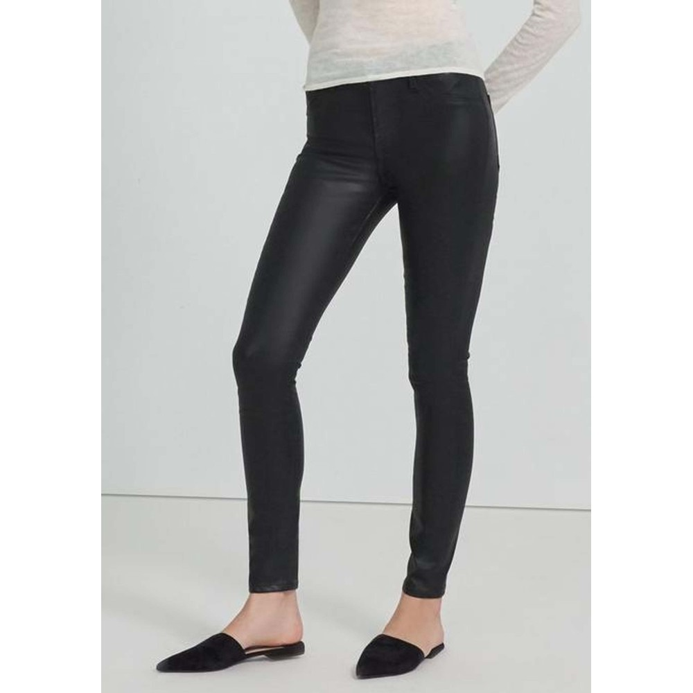 Maria High Rise Skinny Coated Jeans - Stellar Black