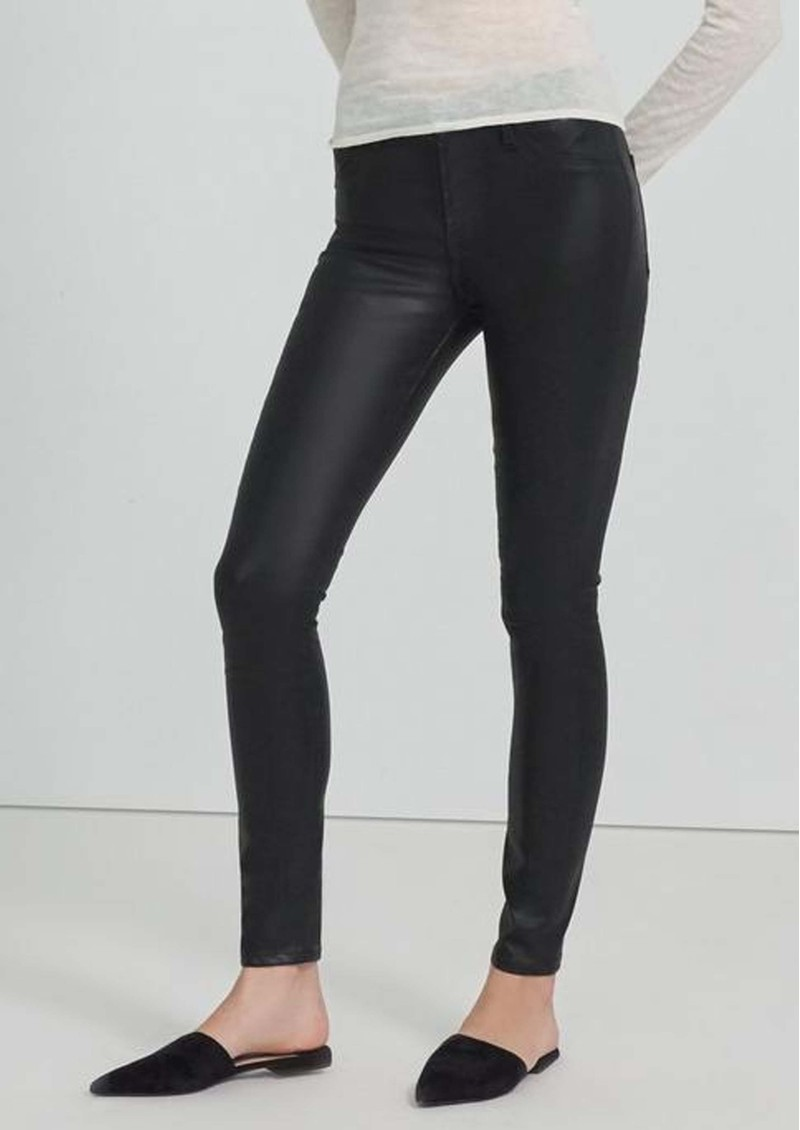 J Brand Maria High Rise Skinny Coated Jeans - Stellar Black main image