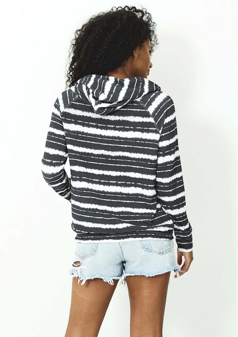 STRIPE & STARE Essential Hoodie - Charcoal Stripe main image