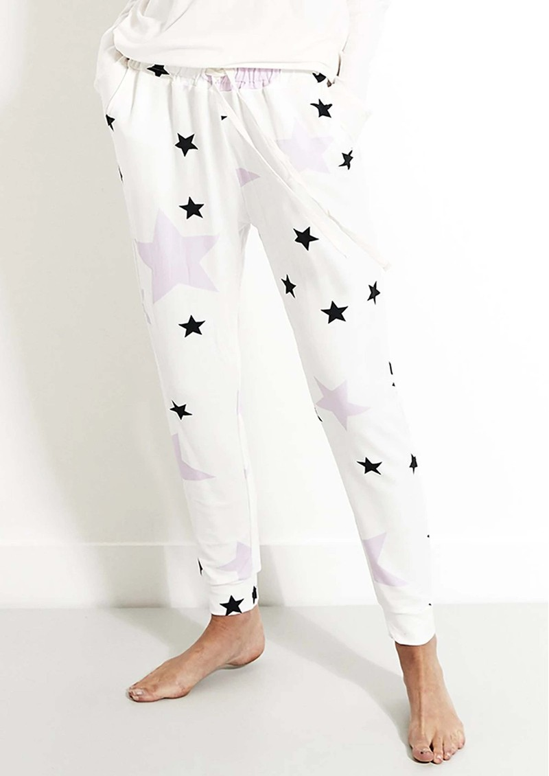 STRIPE & STARE Lounge Pant - Pink Star main image