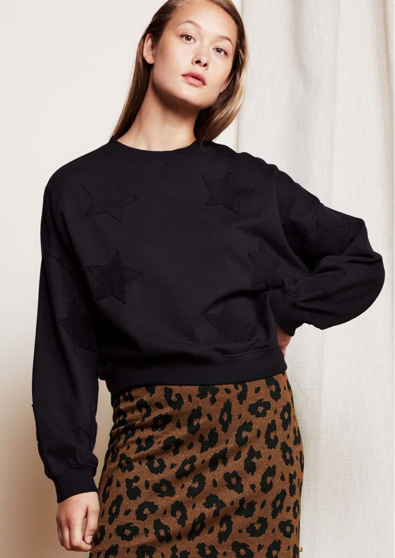FABIENNE CHAPOT Meike GOTS Organic Cotton Sweater - Black Star main image