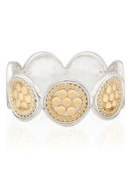 ANNA BECK Classic Multi Disc Ring - Gold