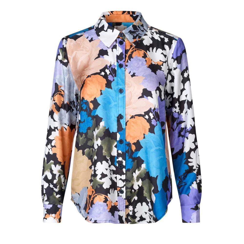 Maxwell Silk Shirt - Flora