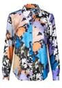 STINE GOYA Maxwell Silk Shirt - Flora