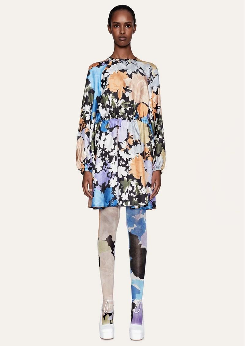 STINE GOYA Coco Silk Dress - Flora main image