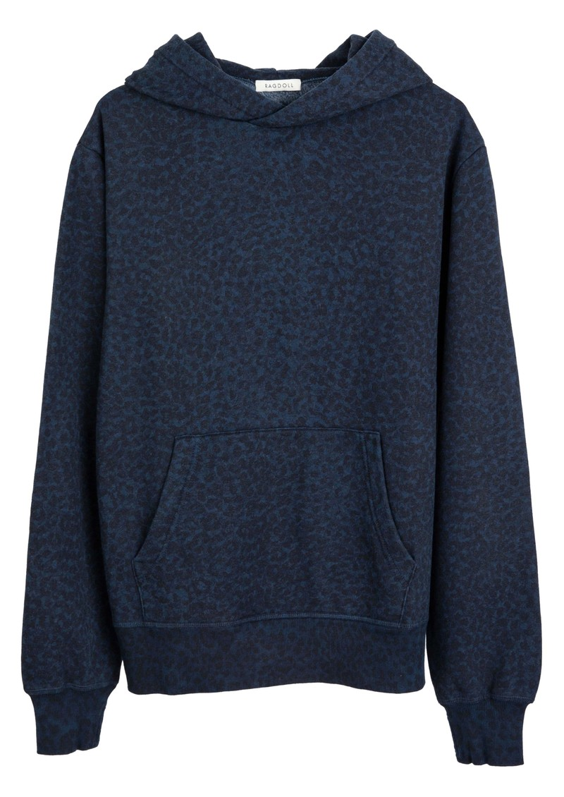 Oversized Hoodie - Navy Leopard main image