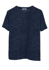 RAGDOLL Easy Vintage Cotton Tee - Navy Leopard