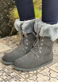 EMU Shoreline Waterproof Sheepkin Boots - Dark Grey